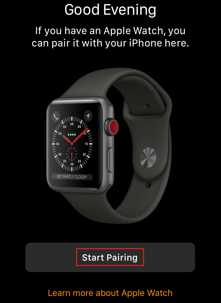 Set Up and Pair Apple Watch with iPhone – Step 1