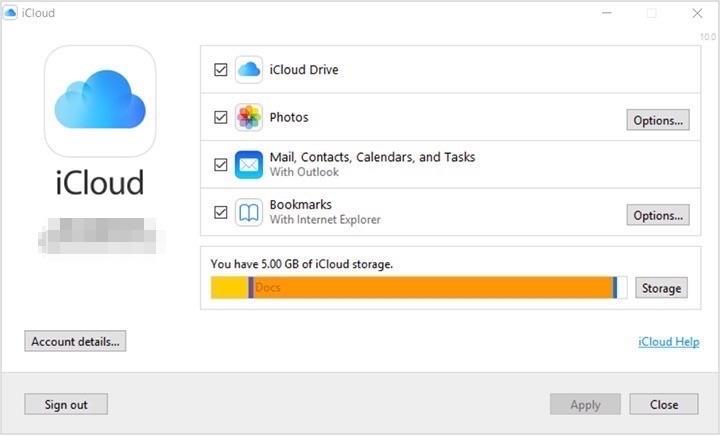 How to Set up iCloud for Windows