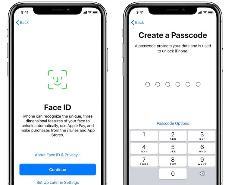 Set up Face ID and Passcode on iPhone X/XS/XR/11