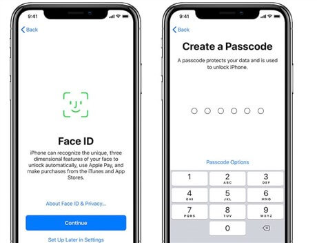 Set up Face ID and Passcode on iPhone 12/X/XS/XR/11
