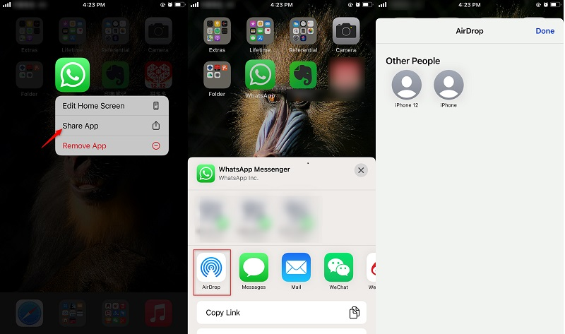 How to Transfer Apps from iPhone to iPhone via AirDrop