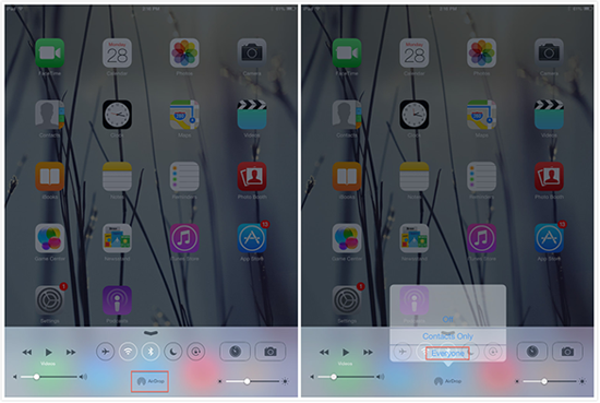How to Share Data with Other iPhone iPad Via AirDrop – Step 1