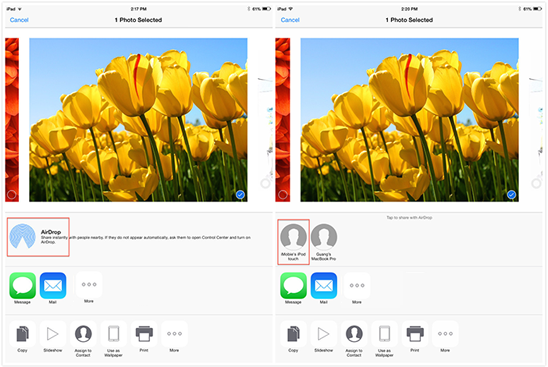 How to Share Photos with Other iPhone iPad iPod touch Via AirDrop