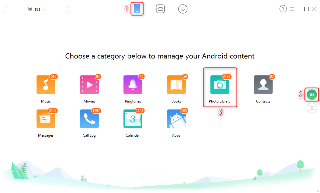 How to Share Files Over WiFi Between PC and Android via AnyDroid - Step 2
