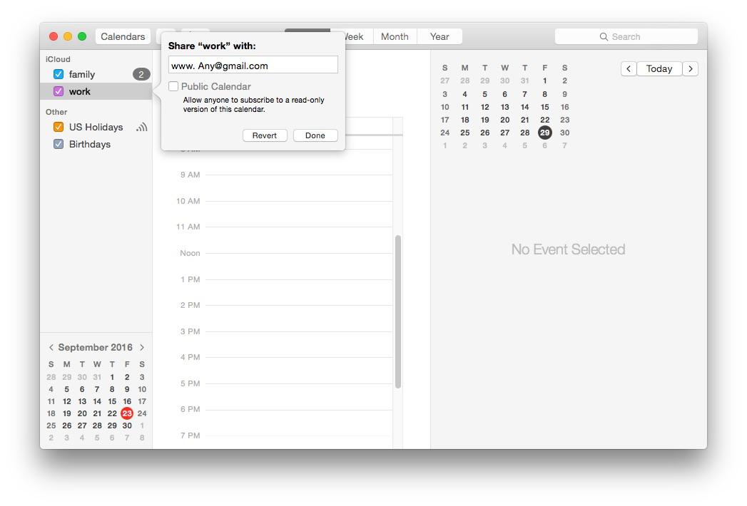 How to Share iCloud Calendar on iPhone Mac