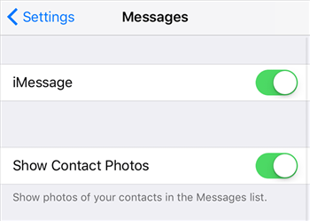 Enable the iMessage feature on your iPhone to share messages