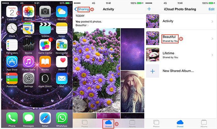 How to Share Photo Streams with a non-iPhone User