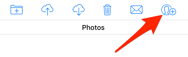 Share photos on iCloud
