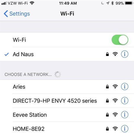 How to Share Wi-Fi Password from iPhone to Android via Visual Code - Step 1