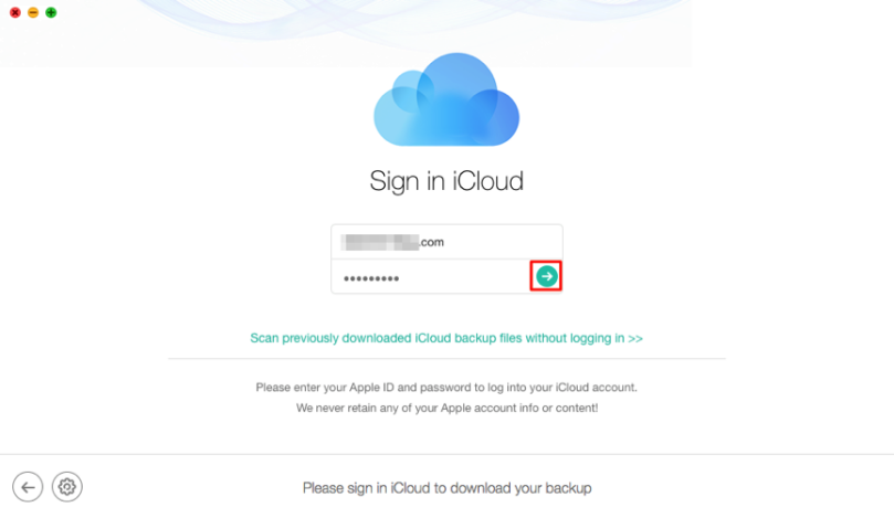 Sign in Your iCloud