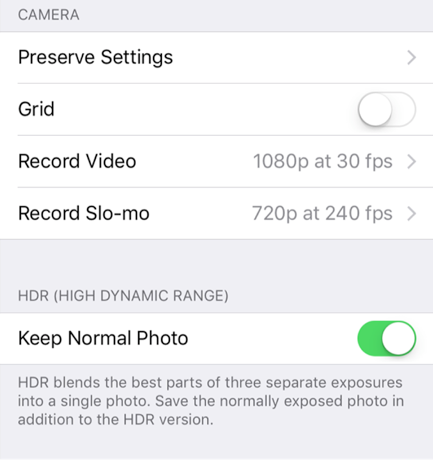 Slow Motion Video Settings on the iPhone