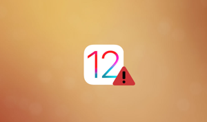 Software Update Failed iOS 12