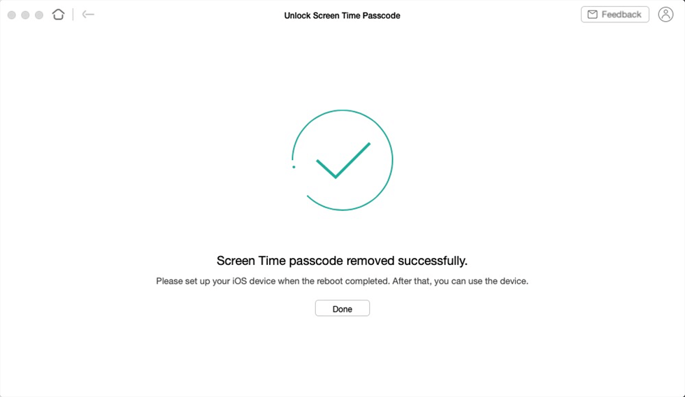 Successfully Remove the Screen Time Passcode on the iPhone with AnyUnlock