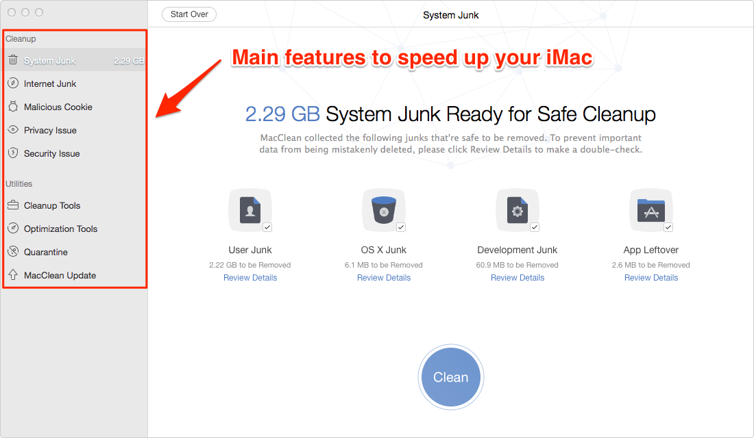 How to Speed Up iMac with MacClean – 1