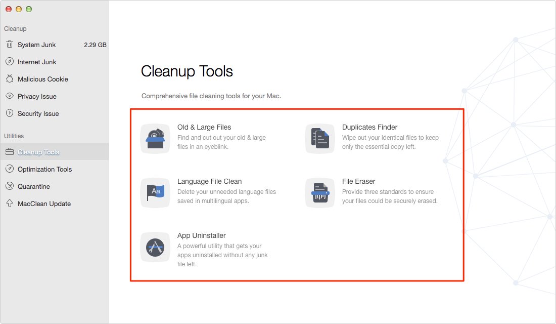 How to Speed Up iMac with MacClean – Step 2