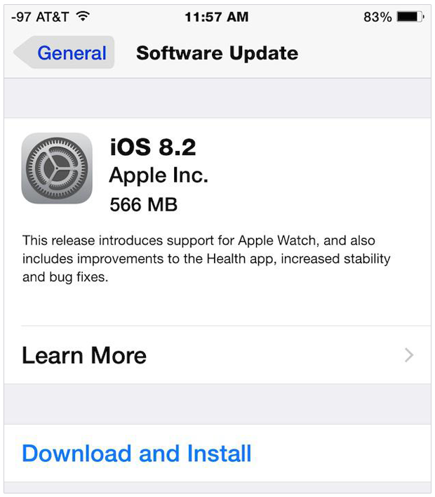 Update Your iPhone to the Latest iOS 8.2