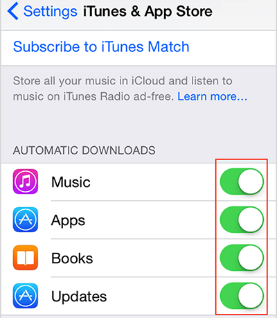 Close Automatic Downloads to Speed Up Your iPhone