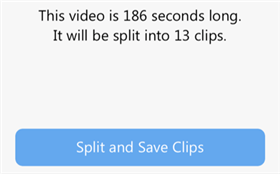 Split and Save the Video