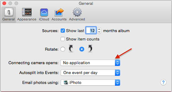How to Stop iPhoto from Opening Automatically – Step 3