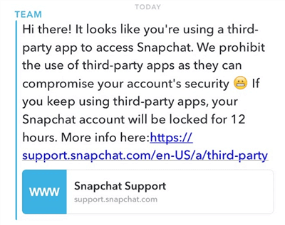 Stop Snapchat from Locking My Account