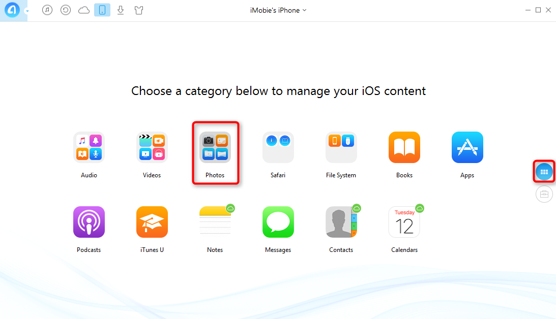 How to Store iDevices' Photos on iCloud - Step 2
