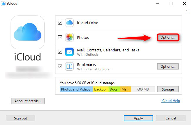 How to Store PC Photos on iCloud - Step 1