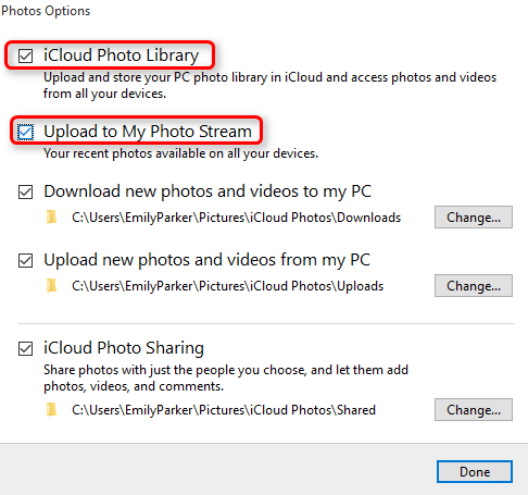 How to Store PC Photos on iCloud - Step 2