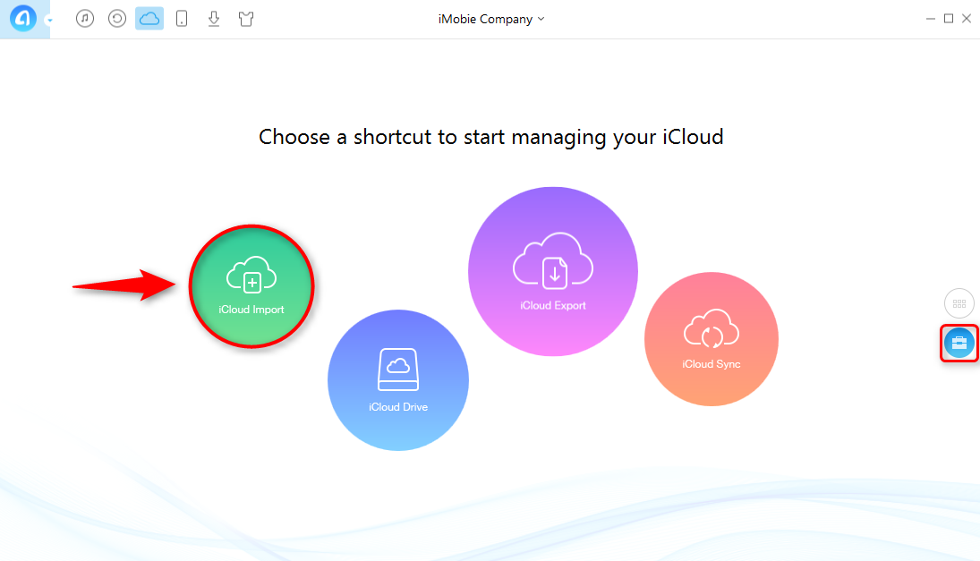 How to Store PC/Mac Photos on iCloud with AnyTrans - Step 2