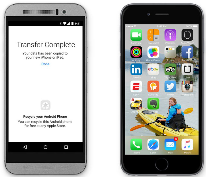 Switch from Android to iPhone - Transfer Data from Android to iPhone 6/6s with Move to iOS