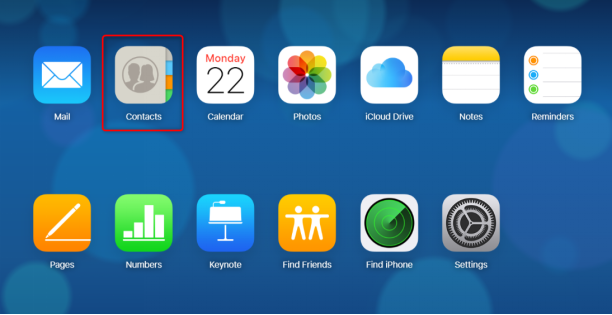 How to Sync Contacts from iPhone to Android via iCloud - Step 1