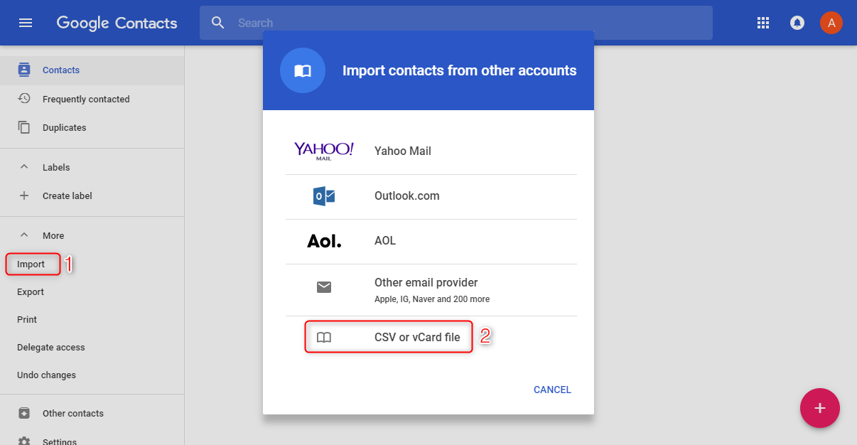 How to Sync Contacts from iPhone to Android via iCloud - Step 3