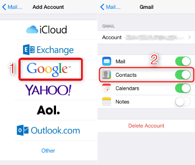 How to Sync Contacts from iPhone to Android via Gmail