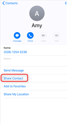 Transfer Contacts from iPhone to iPad via AirDrop