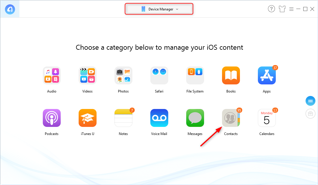 How to Backup iPhone Contacts to Computer – Step 1