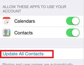 Sync Facebook Contacts With iPhone - Step 6