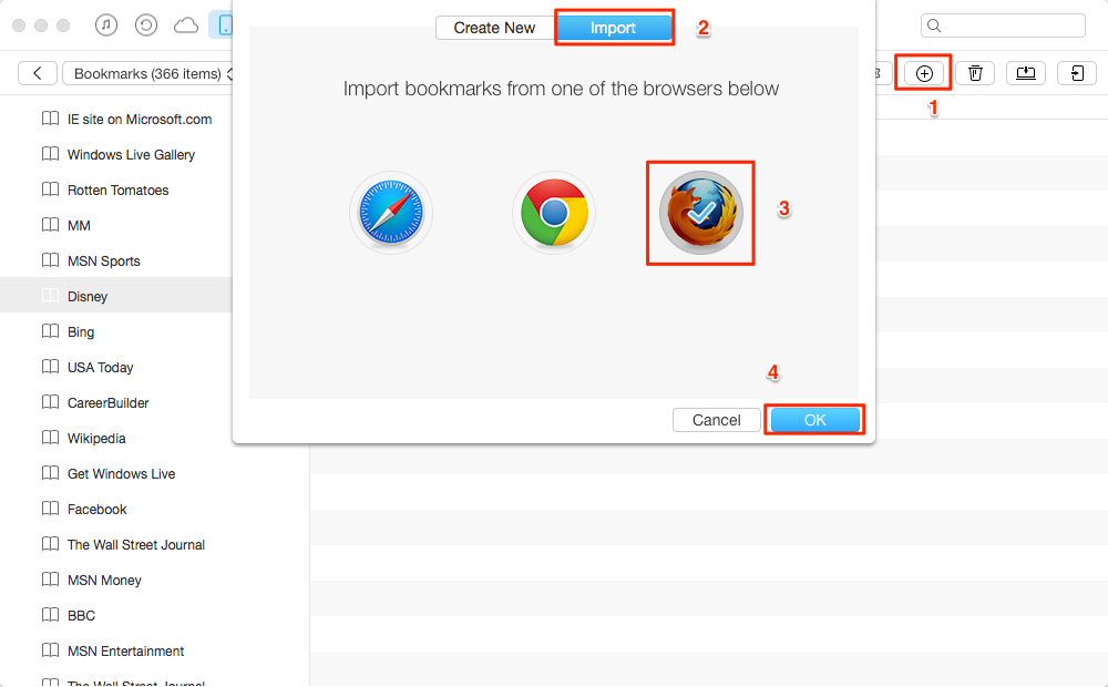 How to Import Firefox Bookmarks to iPhone/iPad