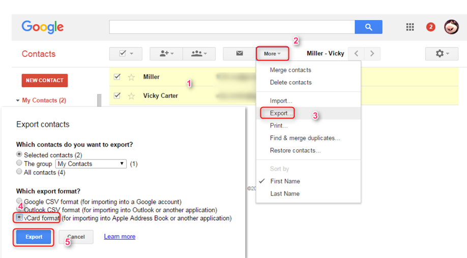 how to import google contacts to icloud via anytrans step 1