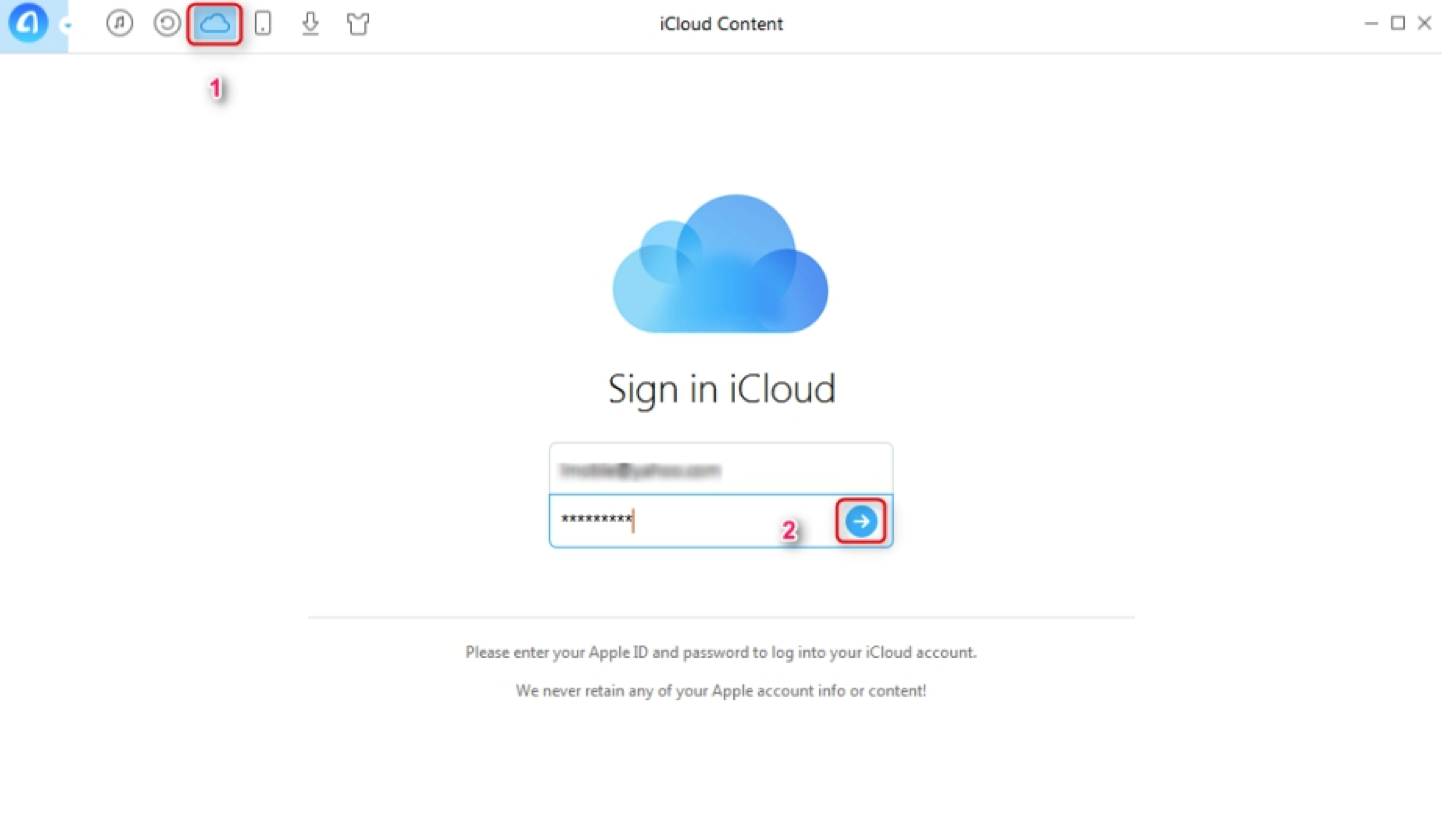 Sync iCloud Contacts with Google via AnyTrans - Step 1