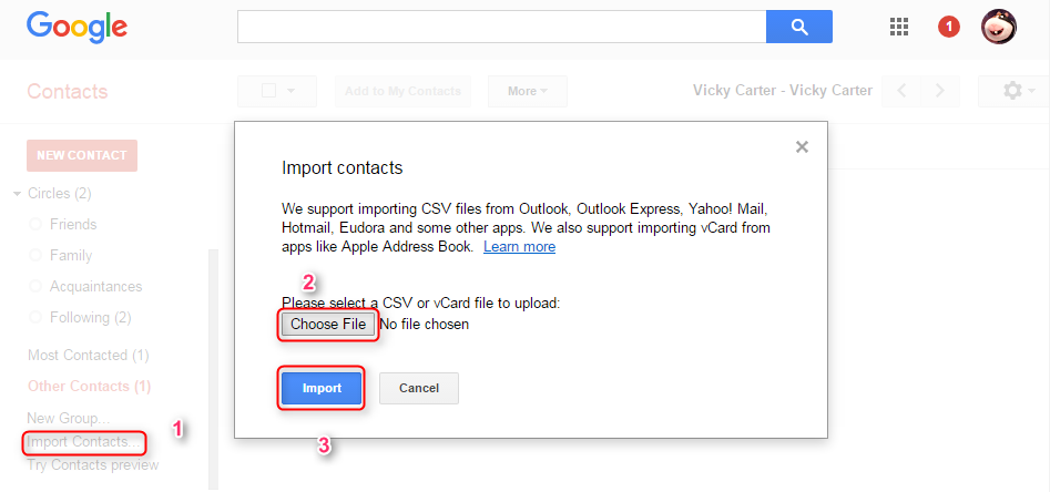 Sync iCloud Contacts with Google via AnyTrans - Step 4