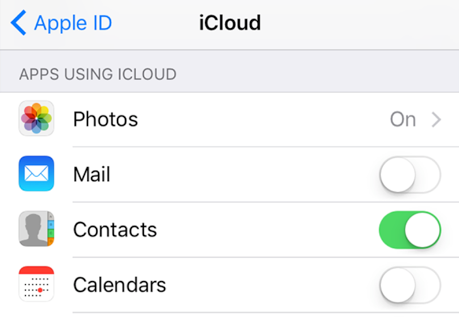 Sync iPhone Contacts with iCloud