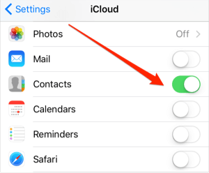 Sync Contacts from iPhone to iCloud