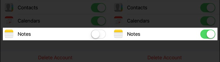 How to Sync iPhone Notes with Gmail Account – Step 3