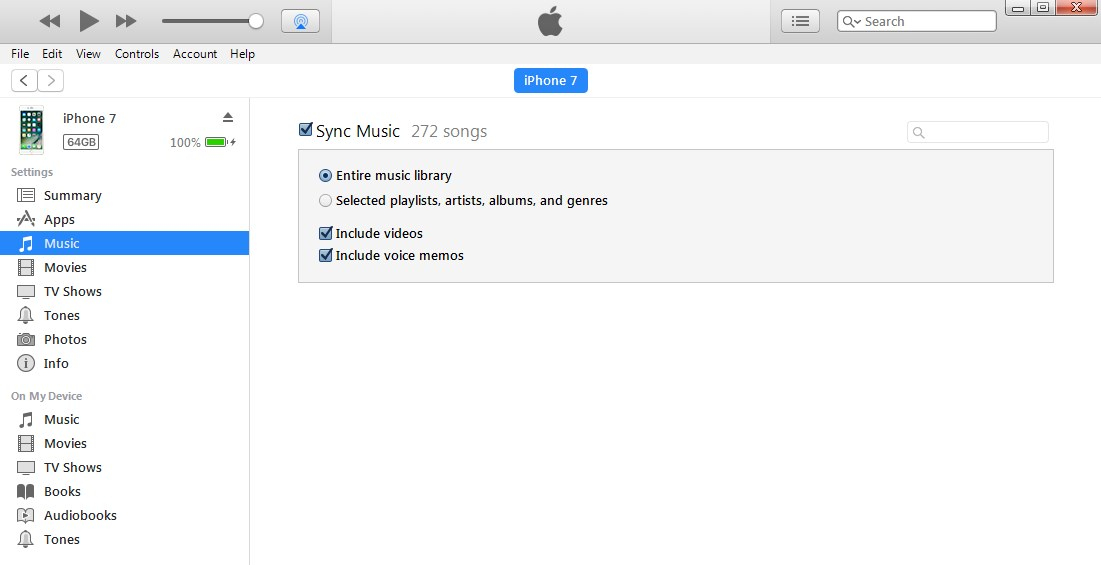 How to Transfer iTunes to iPhone 8/X with iTunes Syncing