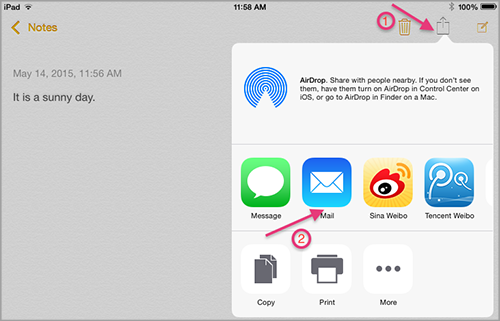 How to turn on Notes sync for iCloud
