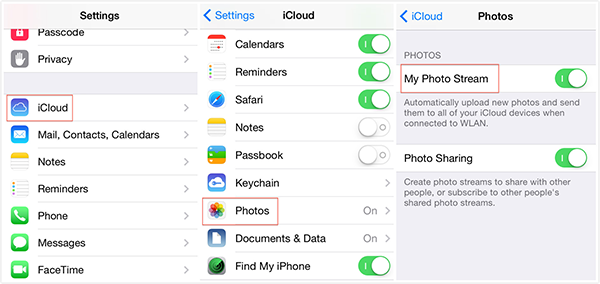 How to Sync Photos from iPhone to iPad via iCloud