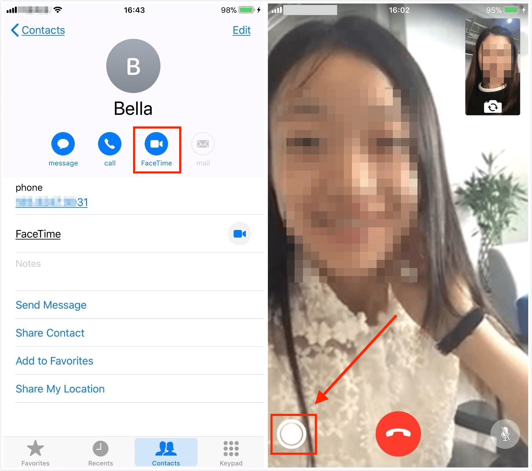 How to Take Live Photos of FaceTime Videos Calls in iOS 11