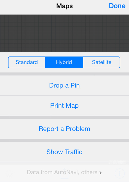 Tips to Use Map on iPhone iPad – Switch the View of Map