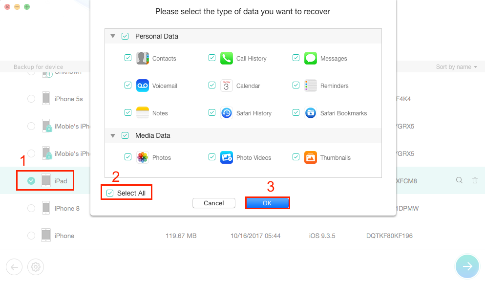 How to Extract iPad Data from iTunes Backup without Erasing - Step 2