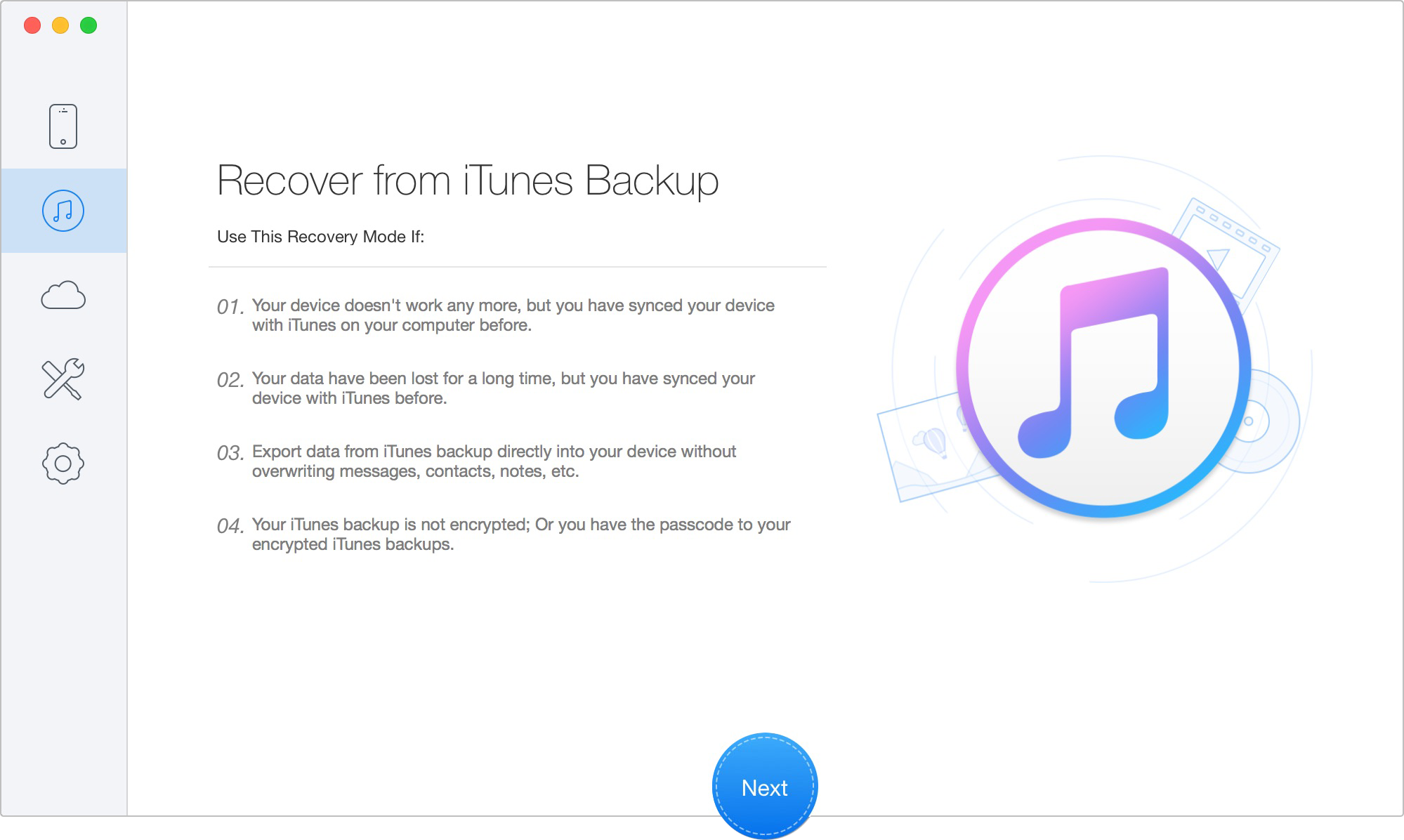 Top 3 iPad Backup Data Extractor - Primo iPhone Data Recovery