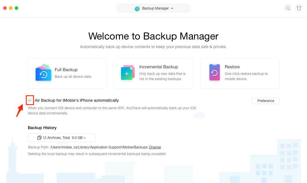 How to Backup iPhone Automatically – Step 2